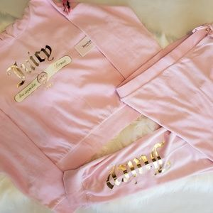 Juicy Couture Pants - Juicy Couture Velour Pink Gold Tracksuit Set